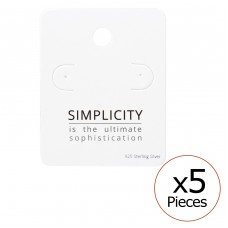 Simplicity Ear Studs Cards - Paper Jewellery Sets A4S35827