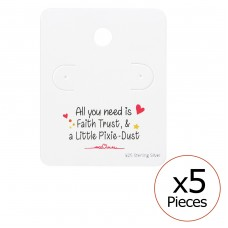 Cute Ear Stud Cards - Paper Jewellery Sets A4S35829