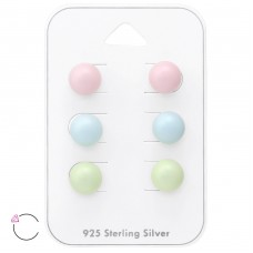 8mm Round - 925 Sterling Silver Jewellery Sets A4S36101