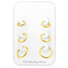 Hoops 8Mm, 10mm And 12mm - 925 Sterling Silver Jewellery Sets A4S38540