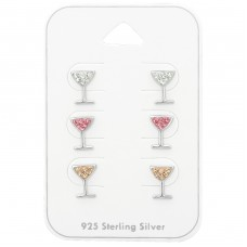 Cocktail Glass - 925 Sterling Silver Jewellery Sets A4S38732