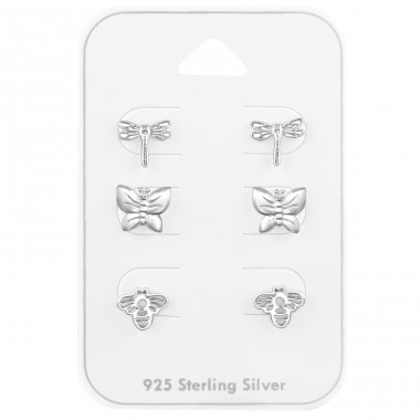Insect Set - 925 Sterling Silver Jewellery Sets A4S39730