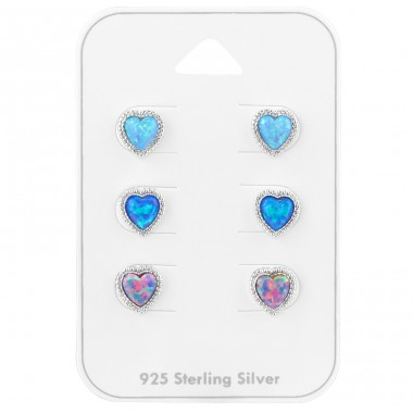 Heart - 925 Sterling Silver Jewellery Sets A4S39797