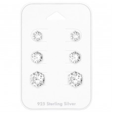 5Mm, 6mm And 8mm Round - 925 Sterling Silver Jewellery Sets A4S35239
