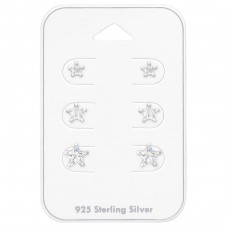 4Mm, 5mm And 6mm Star - 925 Sterling Silver Jewellery Sets A4S35241