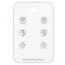 6mm Round, Heart And Star - 925 Sterling Silver Jewellery Sets A4S35244