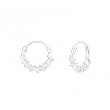 10mm Twisted - 925 Sterling Silver Bali Silver Hoops A4S25280