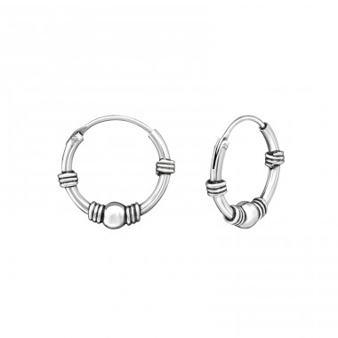 Bali 12mm - 925 Sterling Silver Ear Hoops A4S33136