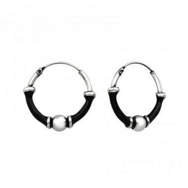 16mm - 925 Sterling Silver Bali Silver Hoops A4S33138
