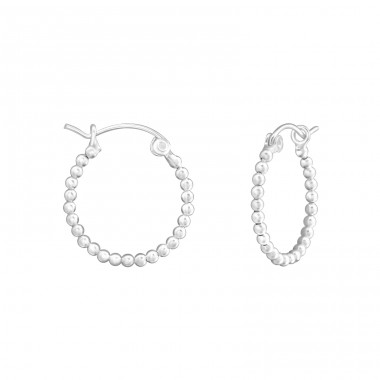 20mm - 925 Sterling Silver Bali Silver Hoops A4S37953