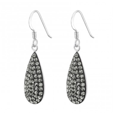 Drop - 925 Sterling Silver Earrings with Crystal stones A4S14735