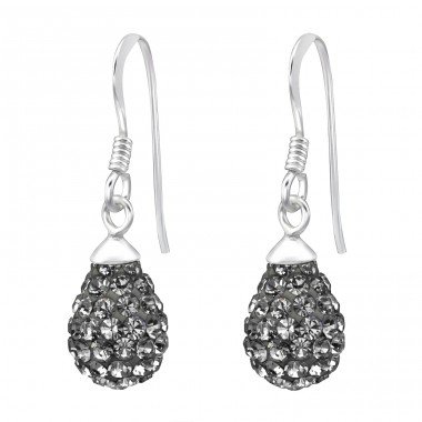 Drop - 925 Sterling Silver Earrings with Crystal stones A4S15275