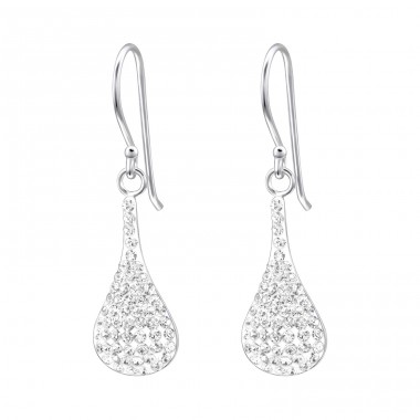 Drop - 925 Sterling Silver Earrings with Crystal stones A4S16587