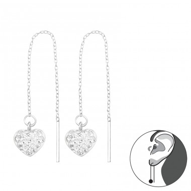 Link - 925 Sterling Silver Earrings with Crystal stones A4S16793