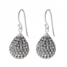 Drop - 925 Sterling Silver Earrings with Crystal stones A4S18876