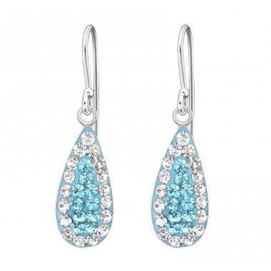 Drop - 925 Sterling Silver Earrings with Crystal stones A4S19052