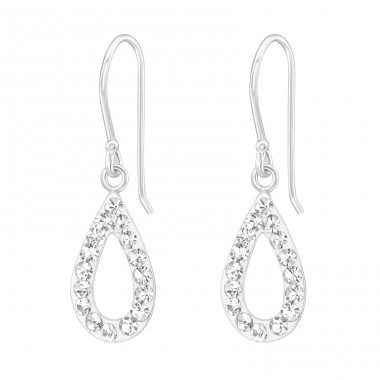 Drop - 925 Sterling Silver Earrings with Crystal stones A4S19440