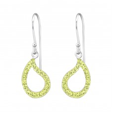 Drop - 925 Sterling Silver Earrings with Crystal stones A4S26539