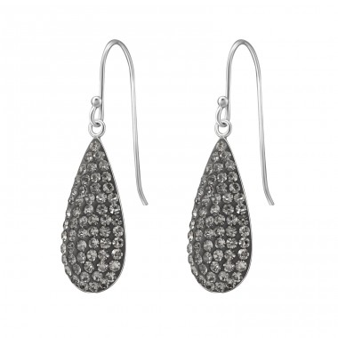 Pear - 925 Sterling Silver Earrings with Crystal stones A4S37594