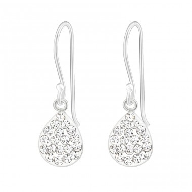 Pear - 925 Sterling Silver Earrings with Crystal stones A4S38360