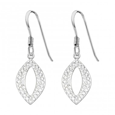 Marquise - 925 Sterling Silver Earrings with Crystal stones A4S39535