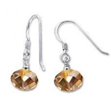 Dangle Drops - 925 Sterling Silver Earrings with Crystal stones A4S6393