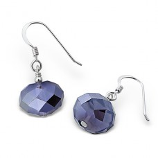 Dangle Drops - 925 Sterling Silver Earrings with Crystal stones A4S6905