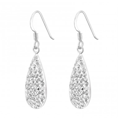 Drop - 925 Sterling Silver Earrings with Crystal stones A4S8050