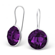 Round - 925 Sterling Silver Earrings with Zirconia stones A4S17997