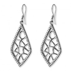 Kite - 925 Sterling Silver Earrings with Zirconia stones A4S20402
