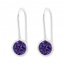Round - 925 Sterling Silver Earrings with Zirconia stones A4S22063