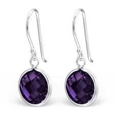 Round - 925 Sterling Silver Earrings with Zirconia stones A4S23254