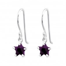 Star - 925 Sterling Silver Earrings with Zirconia stones A4S23319