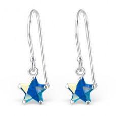 Star - 925 Sterling Silver Earrings with Zirconia stones A4S23839