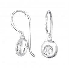 Round - 925 Sterling Silver Earrings with Zirconia stones A4S32054