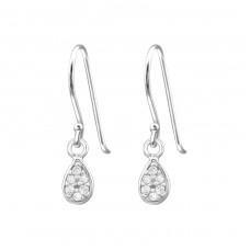 Tear - 925 Sterling Silver Earrings With Zirconia Stones A4S35044