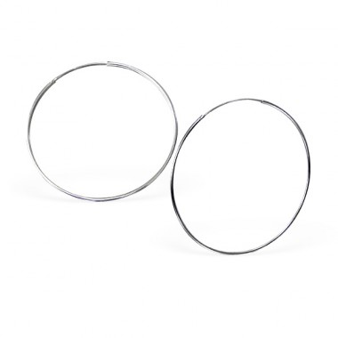 55mm Endless - 925 Sterling Silver Ear Hoops A4S12503
