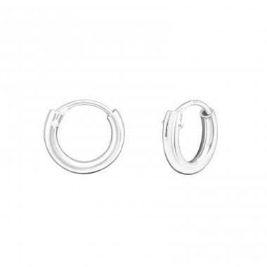 Tiny - 925 Sterling Silver Ear Hoops A4S14498