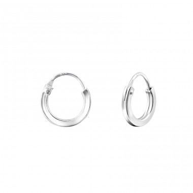 Plain - 925 Sterling Silver Ear Hoops A4S14997