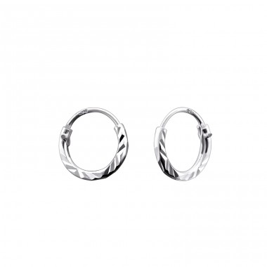 Twisted - 925 Sterling Silver Ear Hoops A4S15039