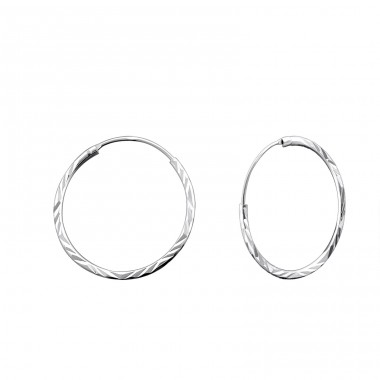 20mm Twisted hoop - 925 Sterling Silver Ear Hoops A4S15041