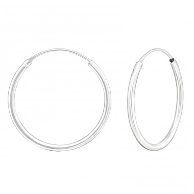 30mm Plain thick hoop - 925 Sterling Silver Ear Hoops A4S1716
