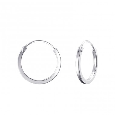 Round 16mm - 925 Sterling Silver Ear Hoops A4S22685