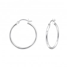 French Lock 28mm - 925 Sterling Silver Ear Hoops A4S30335