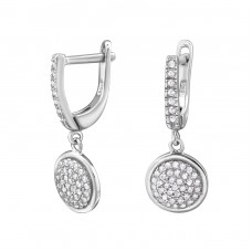 Round - 925 Sterling Silver Ear Hoops A4S34325