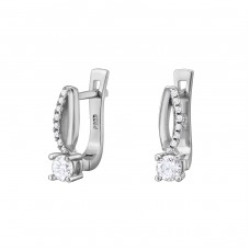 Sparkling - 925 Sterling Silver Ear Hoops A4S34327