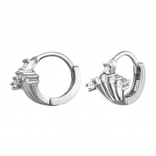 Sparkling Huggies - 925 Sterling Silver Ear Hoops A4S34435
