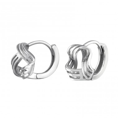 Knot Huggies - 925 Sterling Silver Ear Hoops A4S34438