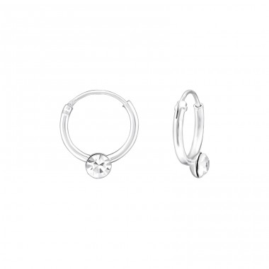10mm - 925 Sterling Silver Ear Hoops A4S34885