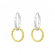 Circle - 925 Sterling Silver Ear Hoops A4S36254